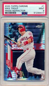 2020 Topps Chrome Prism Refractor Mike Trout #1 PSA 9 MINT💎   ANGELS