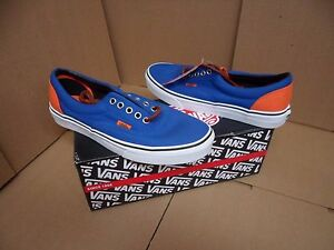 Vans Men s Era Blue   Orange Canvas Skateboarding Shoes VN-0VHQ9VI ... 76c5ae4a9cb7