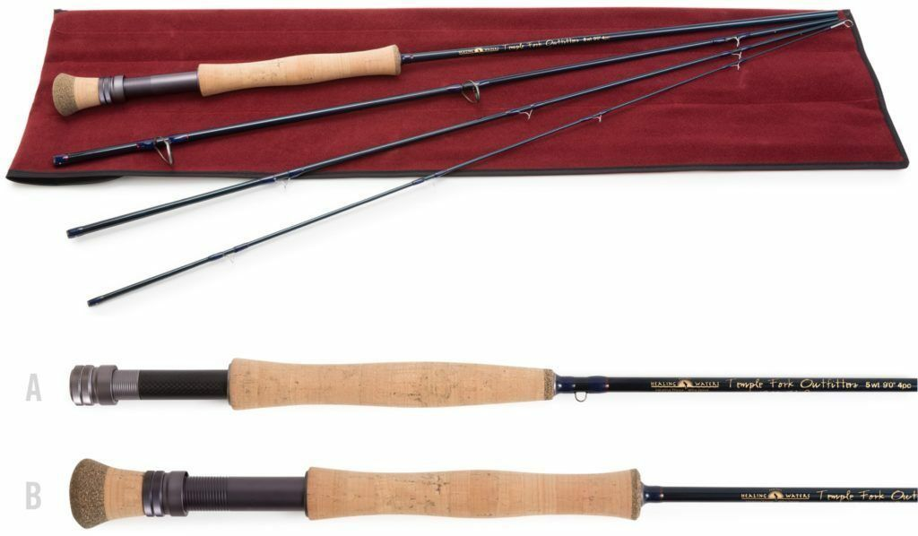 Temple Fork 5 wt. 9'0 4 pc. Healing Waters Fly Rod Includes  25 Donation