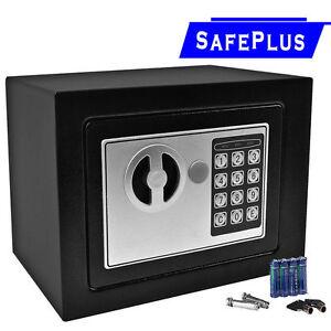durable digital electronic safe box keypad lock home office hotel gun black h. Black Bedroom Furniture Sets. Home Design Ideas