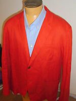 Vince 100% Linen 2 Button Red Sport Coat Xl ( 46r) $385