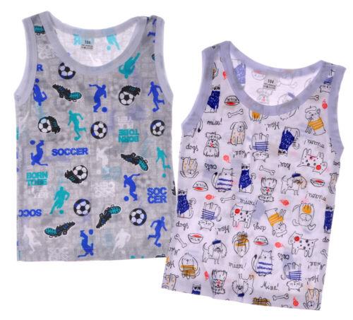 UNTERHEMD Junge Baby und Kinder Unterwäsche Weiß Bunt NEU Unisex 74 bis 116