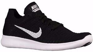Nike Free RN Flyknit Men's Running Shoes Black White 831069-001 New Size 11