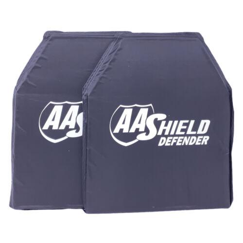 """AA SHIELD® DEFENDER SERIES NIJ HG2//IIIA SOFT BODY ARMOR 10/""""x12/"""" SHOOTER/'S CUT"""