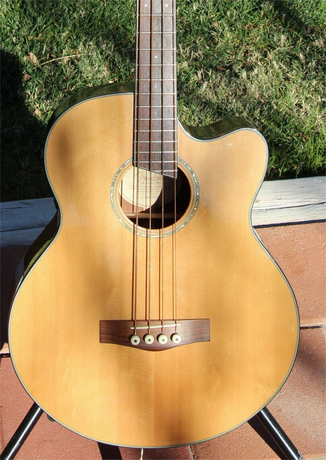 Fender Clearance Sale New GB-41SCE Acoustic/Electric Bass Natural w/warranty