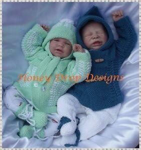 15be6d8da Honeydropdesigns   Dante   PAPER KNITTING PATTERN Reborn Baby