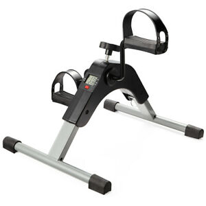 Folding Mini Exercise Bike Arm Leg Resistance Cycle Bicycle Workout Gym Fit