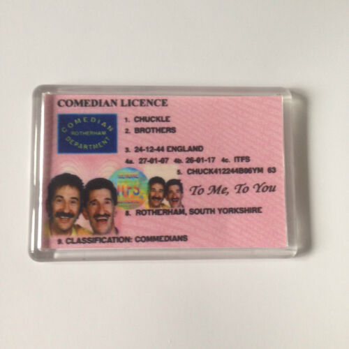 CHUCKLE BROTHERS Keyring or Fridge Magnet = ideal gift idea !!!!!!!!!!!!!