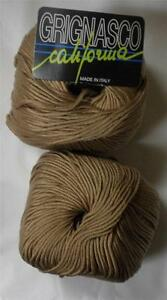 14E GRIGNASCO CA ITALIAN MERCERIZED COTTON  DK//WORSTED YARN 1 BALL SECOND SKIN
