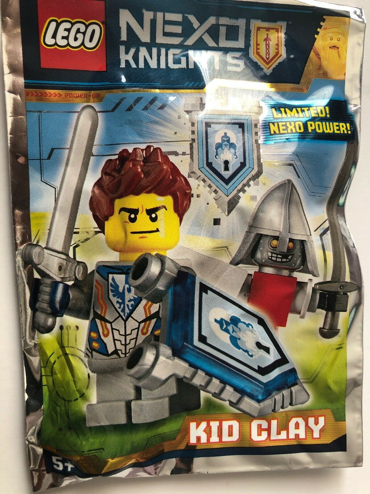 NEW LEGO Polybag Foil Pack 271608 NEXO KNIGHTS Kid Clay