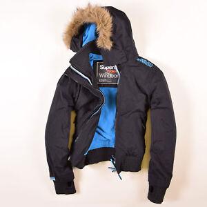 Details zu Superdry Damen Jacke Jacket Gr.L (DE 40) The Windbomber Fleece Futter, 45064