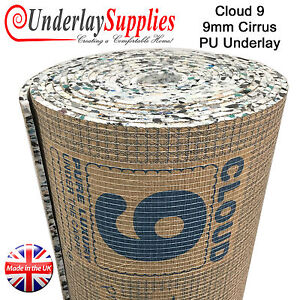 Cloud 9 Cirrus 9mm Pu Carpet Underlay Brand Leader Quality