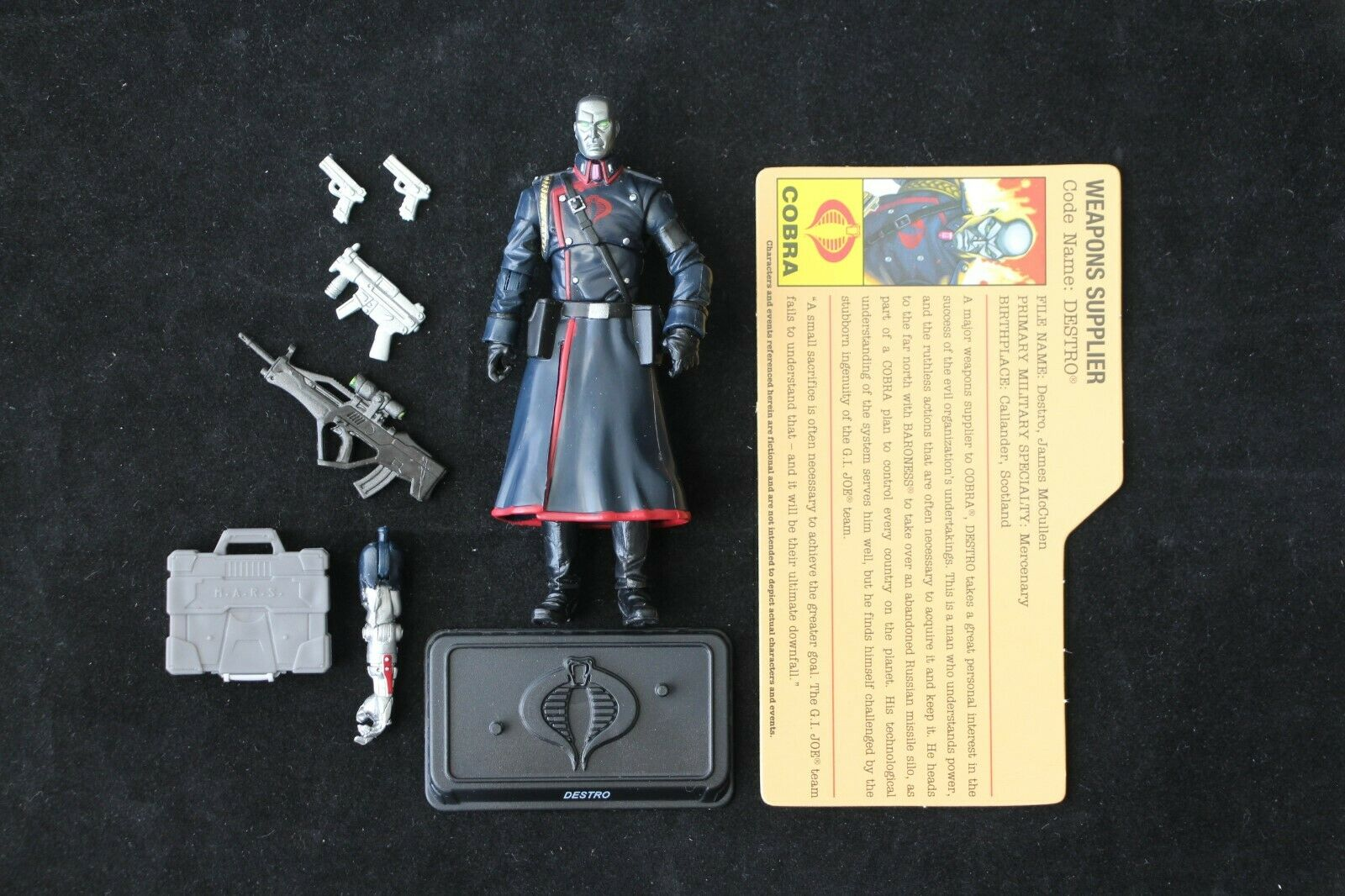 GI Joe Hasbro Resolute Battle Set 7 Pack Destro Figure Complete Mint