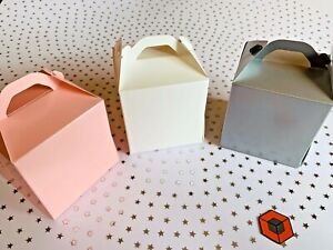 10-or-more-TALLER-Single-Cupcake-Boxes-WHITE-PINK-SILVER