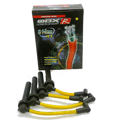 OBX Yellow Spark Plug Wires for 1995-1999 Mitsubishi Eclipse 2.0L N//A