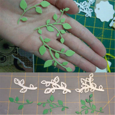 3pcs Leaves Metal Cutting Dies Stencils DIY Scrapbooking//photo album DecorCYN