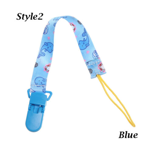 Infant Colorful Nipple Strap Pacifier Chain Dummy Clips Soother Baby Teething