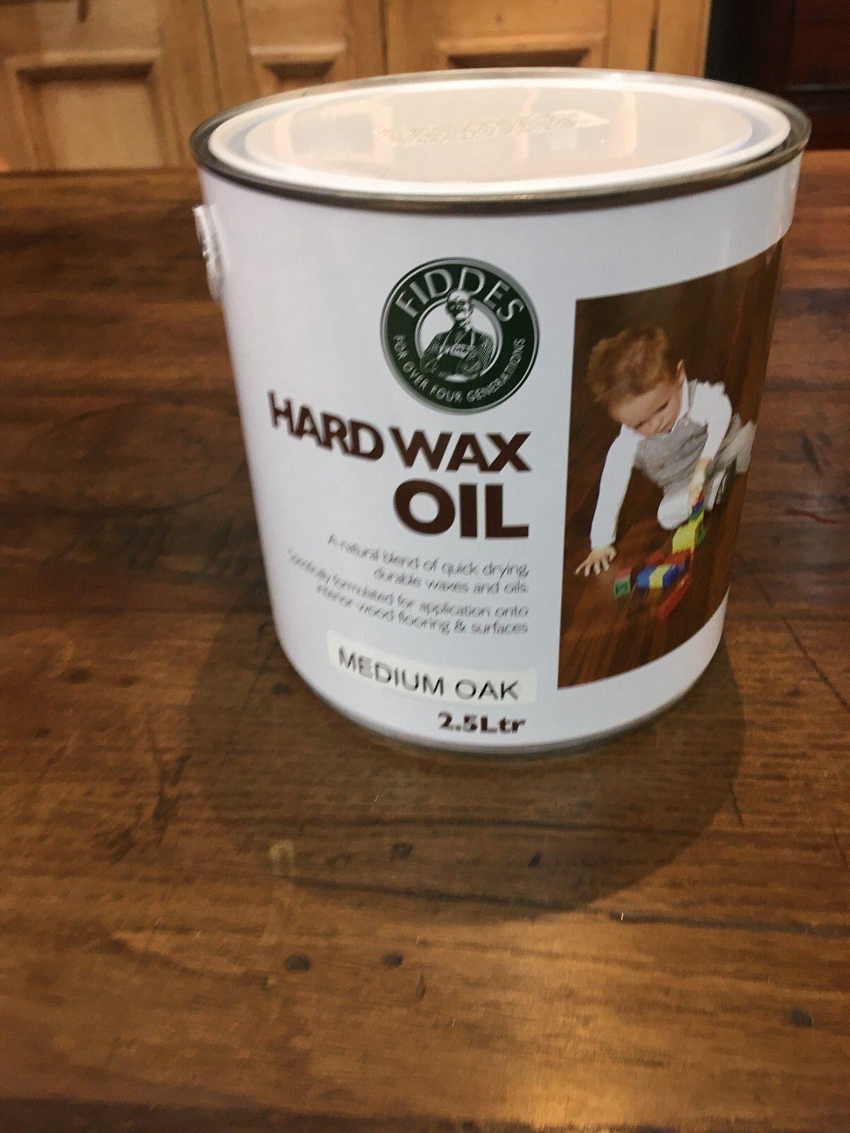 Fiddes hard wax oil Medium Oak 2.5 litre