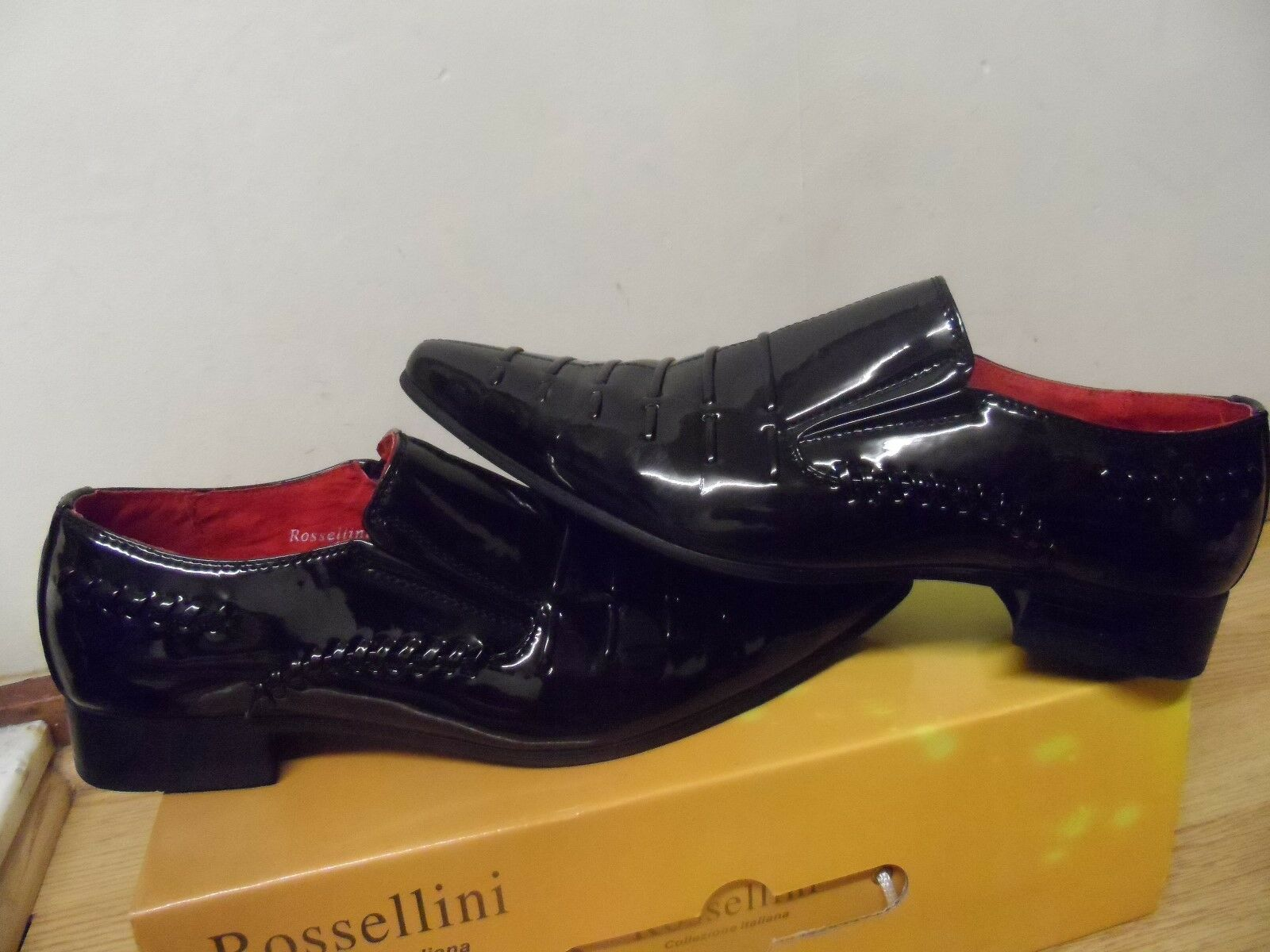 Rossellini Mens Italiana Formal Leather Shoes Size UK 6 / EU 39