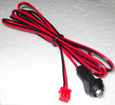 "Super Bright Blue LED 3 volt with 47"" leads and plug fits various car  alarms"