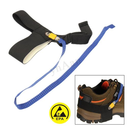Anti Static ESD Adjustable Foot Strap Heel electronic Discharge Band Ground O