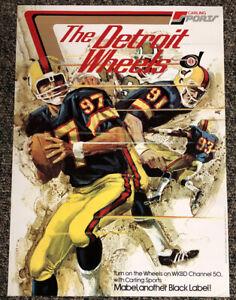 1974-WFL-World-Football-League-Detroit-Wheels-Poster-WGN-9-Carling-Black-Label