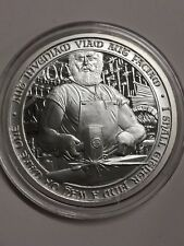 *GORGEOUS!!!* 2 Troy Oz .999 Fine Silver Art Round *VERY LIMITED* Knight Coin
