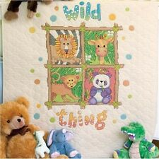 Dimensions Baby Hugs Wild Thing Quilt Stamped Cross Stitch Kit - 330154