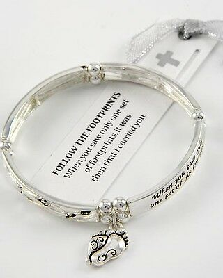 Follow the Footprints, I Carried You, Lord Religious Christian Bracelet #219-C