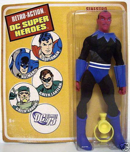 Size Retro 8 Mattel Mego Figure Heroes Super Action Dc Sinestro Inch Aj54LRc3qS