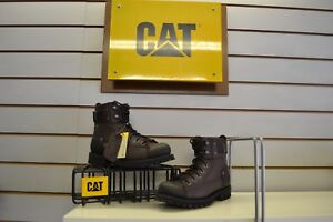 Caterpillar-Brent-Brown-Olive-Leather-Fashion-Chukka-Boots-UK-6-EU-40-Cat