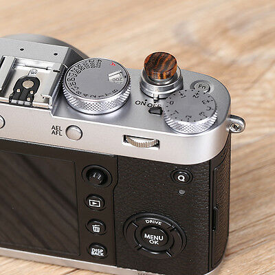 BIN Solid Wood Shutter Camera Button for Fujifilm X100F X100T XPRO2 Dia S5W6