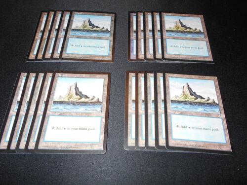 20 Basic Land MP-NM Condition Island SAME ART Magic MTG FTG Mirage
