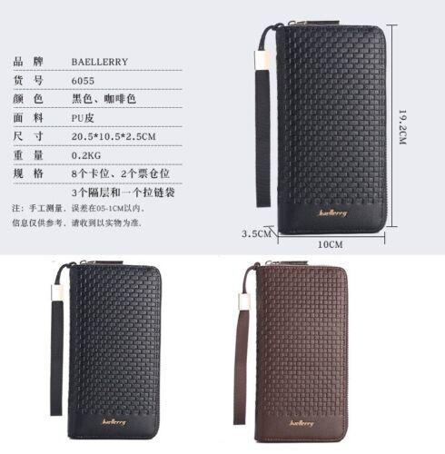Men's long Wallet Big Capacity Luxury Brand Male Casual Zipper Coin Clutch purse