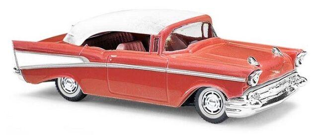 Busch 45038 - 1/87 / H0 Chevrolet Bel Air ´57 Cabrio (Geschlossen) - Rosé - Neu