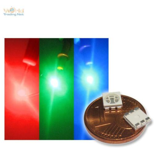 HIGHPOWER SMDs SMT 100x RGB SMD LEDs 5050 3-Chip PLCC6 Fullcolor rot grün blau