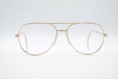 Vintage Luxotica Gep 18kt Vergoldet 58[]17 145 Gold Oval Brille Eyeglasses Nos