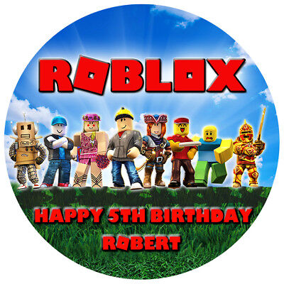 Roblox cake toppers for man edible personalised decoration