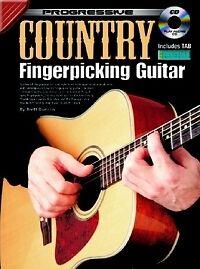 Progressive Pays Fingerpicking Guitar Book & Cd-afficher Le Titre D'origine ModéLisation Durable