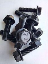M8-1.25x30 Metric M8x30 Hex Flange Bolts Gr 10.9 steel Yellow zinc 20