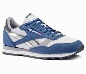 2fe3feda001 Image is loading REEBOK-CLASSIC-LEATHER-RSP-BLUE-WHITE-SHADOW-GRAPHITE-
