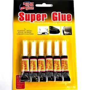 6-x-3-g-Sekundenkleber-SuperGlue-EXTRA-STARK-universal-Schnellkleber-Alleskleber
