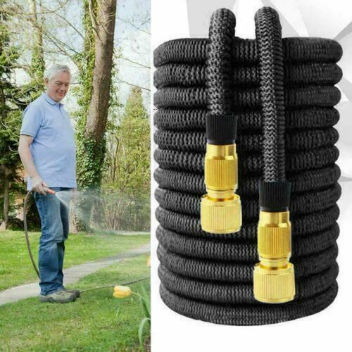 3X Stronger Brass Deluxe Expandable Flexible Garden Water Hose 25FT 50ft 100ft