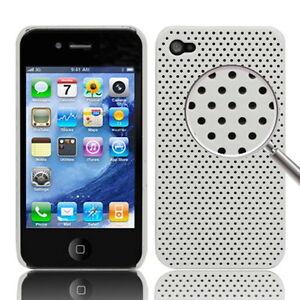 CUSTODIA-HARD-CASE-RIGIDA-PER-APPLE-IPHONE-4-4G-COVER-NUOVO-GUSCIO-BIANCO-MESH