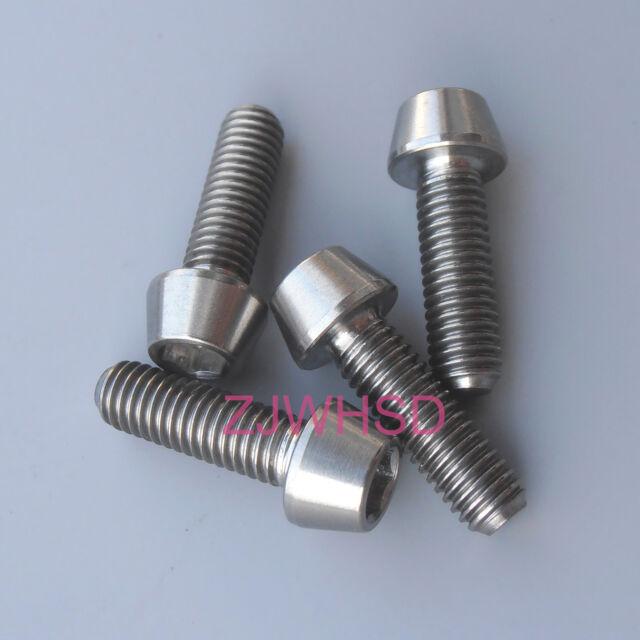4pcs M5x16 Titanium Ti Screw Bolt Allen hex Taper Socket Cap head/AerospaceGrade