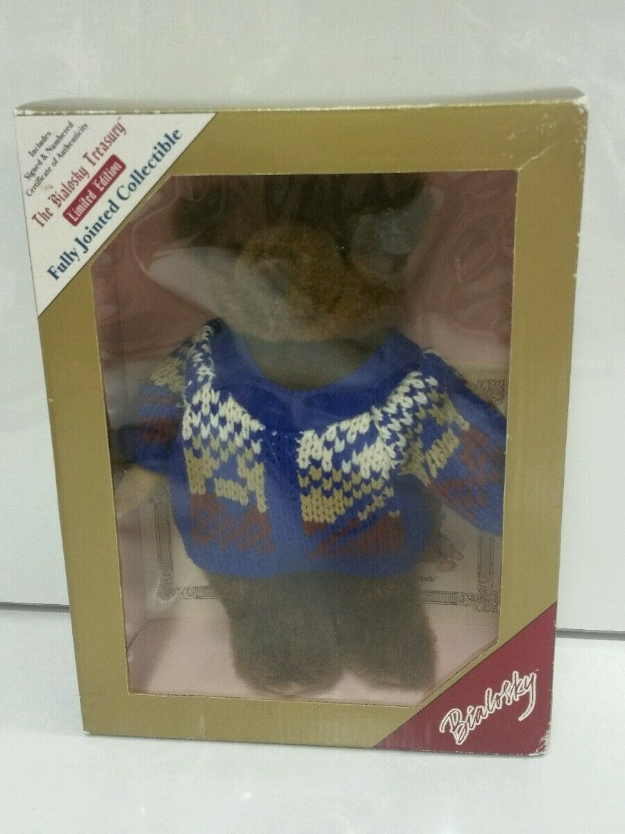 Bialosky Treasury marrone Bear w/ Sweater 1990s LIMITED EDITION Fully Jointed RARE