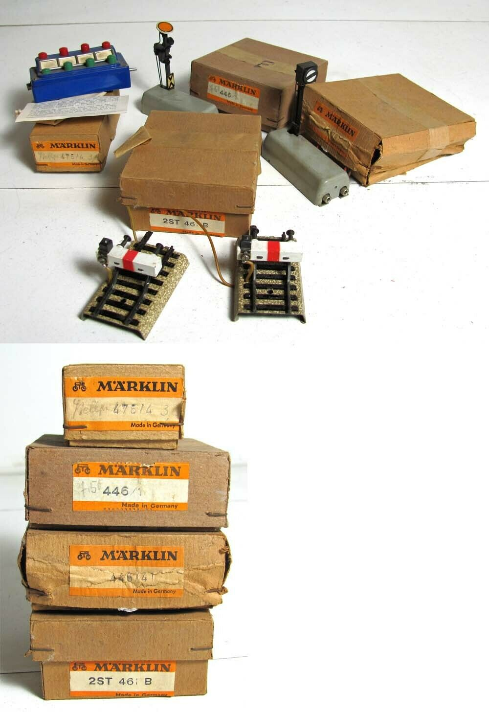 MARKLIN HO GAUGE 461B BUMPERS, 446 1 446 41 SIGNAL, AND 476 4 CONTROL PANEL