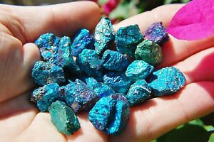20-PCS-AAA-Grade-CHARGED-650cts-BABY-PEACOCK-ORE-Chalcopyrite-Crystals-Healing