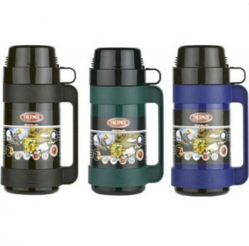 Thermos Glass Lined Insulated Vacuum Mondial Flask Hot Bottle 500ml// 1.0L// 1.8L