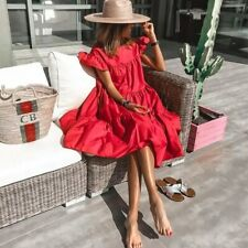 Sleeveless simple modest party dress Summer casual evening bridesmade boho dress